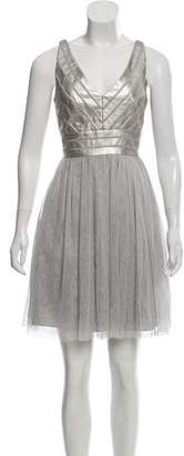 Aidan Mattox Sleeveless A-Line Dress