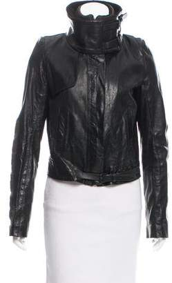 A.L.C. Contrast Leather Jacket