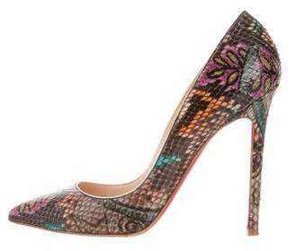 Christian Louboutin Pigalle Snakeskin Pumps