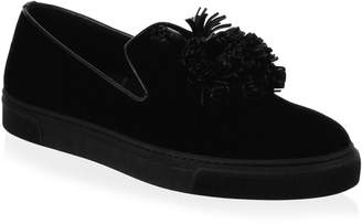 Louis Leeman Slip-On Velvet Sneakers