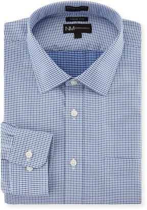 Neiman Marcus Trim-Fit Non-Iron Check-Print Dress Shirt