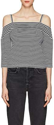 Robert Rodriguez Women's Striped Stretch-Cotton Cold-Shoulder Top