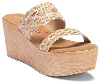 Sbicca Sesillia Double Strap Wedge Sandal