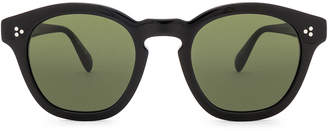 Oliver Peoples Boudreau LA in Black & Green | FWRD