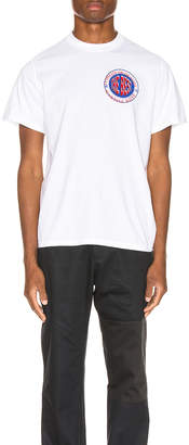 Martine Rose Inverted Tee in White | FWRD