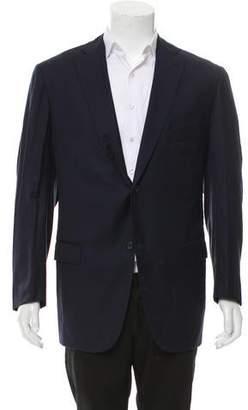 Isaia Wool Two-Button Blazer