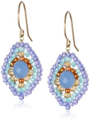 Miguel Ases Quartz and Topaz Hydro Lotus Drop Earrings