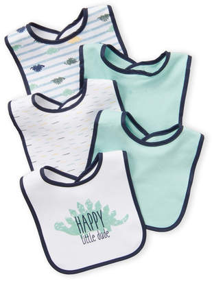 Baby Essentials Kyle & Deena (Newborn/Infant Boys) 5-Pack Dino Bibs