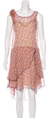 Anna Sui Midi Silk Dress