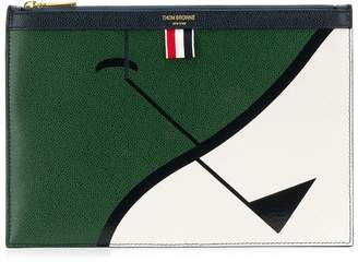 Thom Browne Golf Intarsia Small Tablet Holder