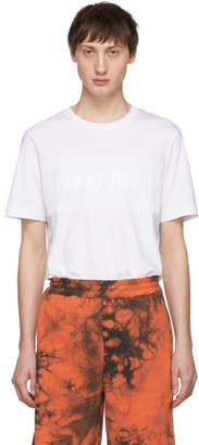 Helmut Lang White Mesh Band Logo T-Shirt