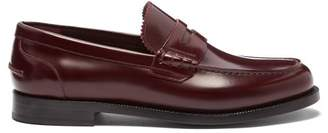 Burberry Bedmont Leather Penny Loafers - Mens - Red