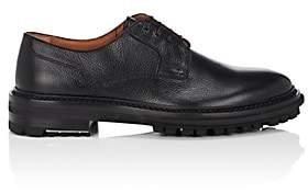 Lanvin Men's Lug-Sole Grained Leather Bluchers-Black