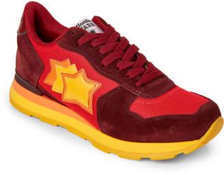 Atlantic Stars Yellow & Bordeaux Vega Low-Top Sneakers