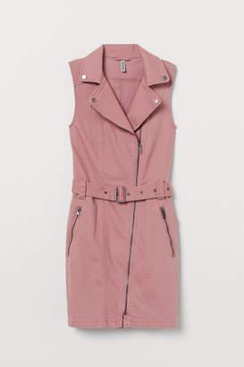 H&M Twill Biker Dress