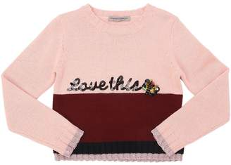 Ermanno Scervino Love This Wool Blend Knit Sweater