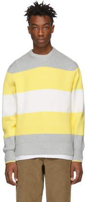 Rag & Bone Grey and Yellow Kirke Sweater