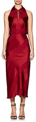Zac Posen Women's Shadow-Striped Crepe Midi-Dress