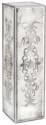 John-Richard Collection Etched Pedestal - Silver/Mirrored