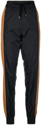 No.21 striped jogging trousers