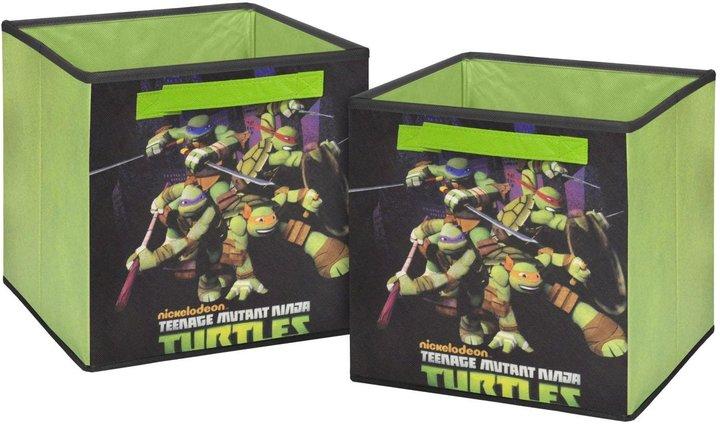 "Nickelodeon 10"" Teenage Mutant Ninja Turtles Storage Cubes- Set of 2"