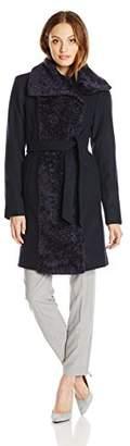 Vince Camuto Women's Wool-Blend Wrap Coat,Large