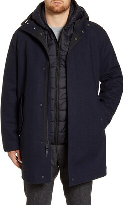 Cole Haan 3-in-1 Insulated Bonded Tweed Parka
