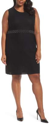 Ming Wang Texture Knit Dress