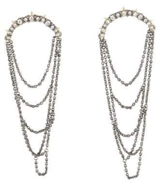 Alexis Bittar Crystal Chain Stud Earrings