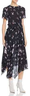Preen Line Lois Floral Print Midi Dress