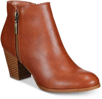 Style & Co Jamila Zip Booties, Only at Macy's $79.50 thestylecure.com