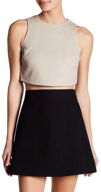 Doma Doma Leather Crop Shirt