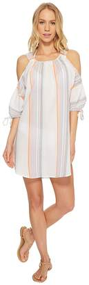 Echo Sunset Stripe Cold Shoulder Women's Clothing