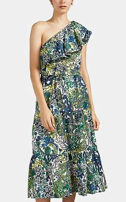 A.L.C. Women's Janelle Abstract-Floral Cotton-Silk Dress