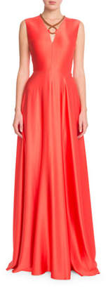 Roksanda Rope-Detail Sleeveless Silk Gown