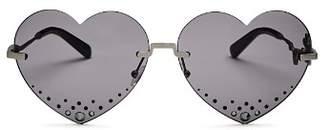 Kenzo Women's Embellished Heart Sunglasses, 63mm