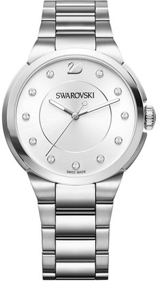 Swarovski Women's Swiss City Crystal Accent Stainless Steel Bracelet Watch 38mm $279 thestylecure.com