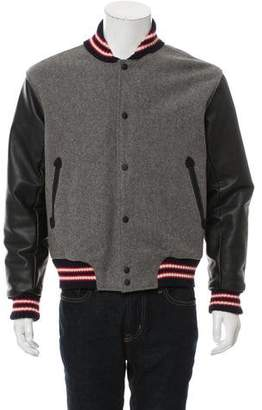 Rag & Bone Leather-Accented Varsity Jacket