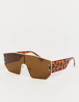 Jeepers Peepers visor sunglasses in tan
