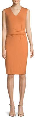 Catherine Malandrino V-Neck Jersey Knee-Length Dress