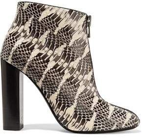 Tom Ford Snake Ankle Boots