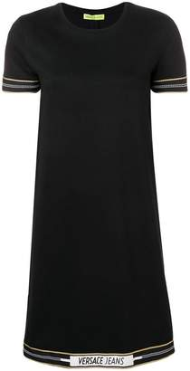 Versace logo trim dress