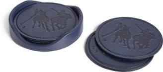 Ralph Lauren Garrett Leather Coaster Set