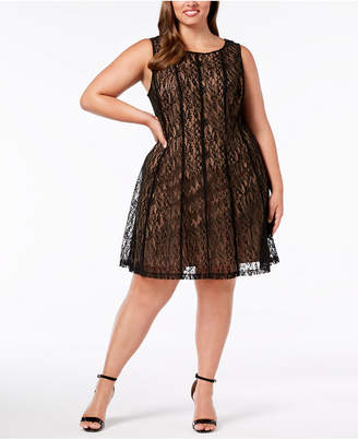 Connected Plus Size Lace A-Line Dress