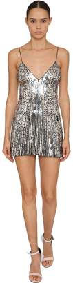 Balmain Sequined Silk Mini Dress