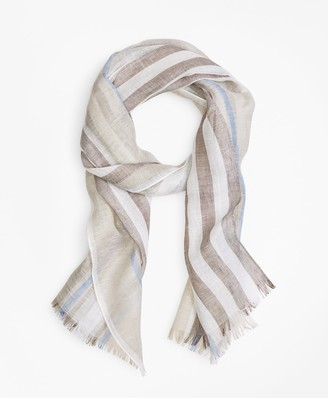 Brooks Brothers Tonal Stripe Scarf