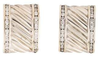 David Yurman Diamond Cigar Band Earrings