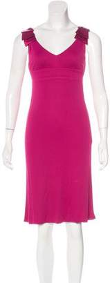 Versace Sleeveless V-Neck Dress