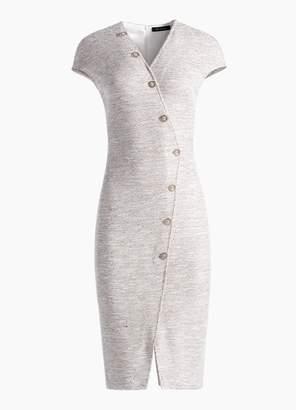 St. John Belinda Knit V-Neck Cap Sleeve Dress