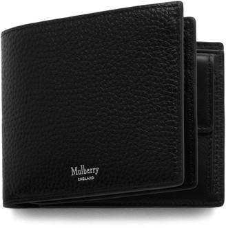 1163133d409c Mulberry 8 Card Coin Wallet Black Natural Grain Leather